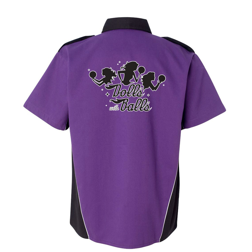 Dolls With Balls Stock Print on Dillinger Bowling Shirt