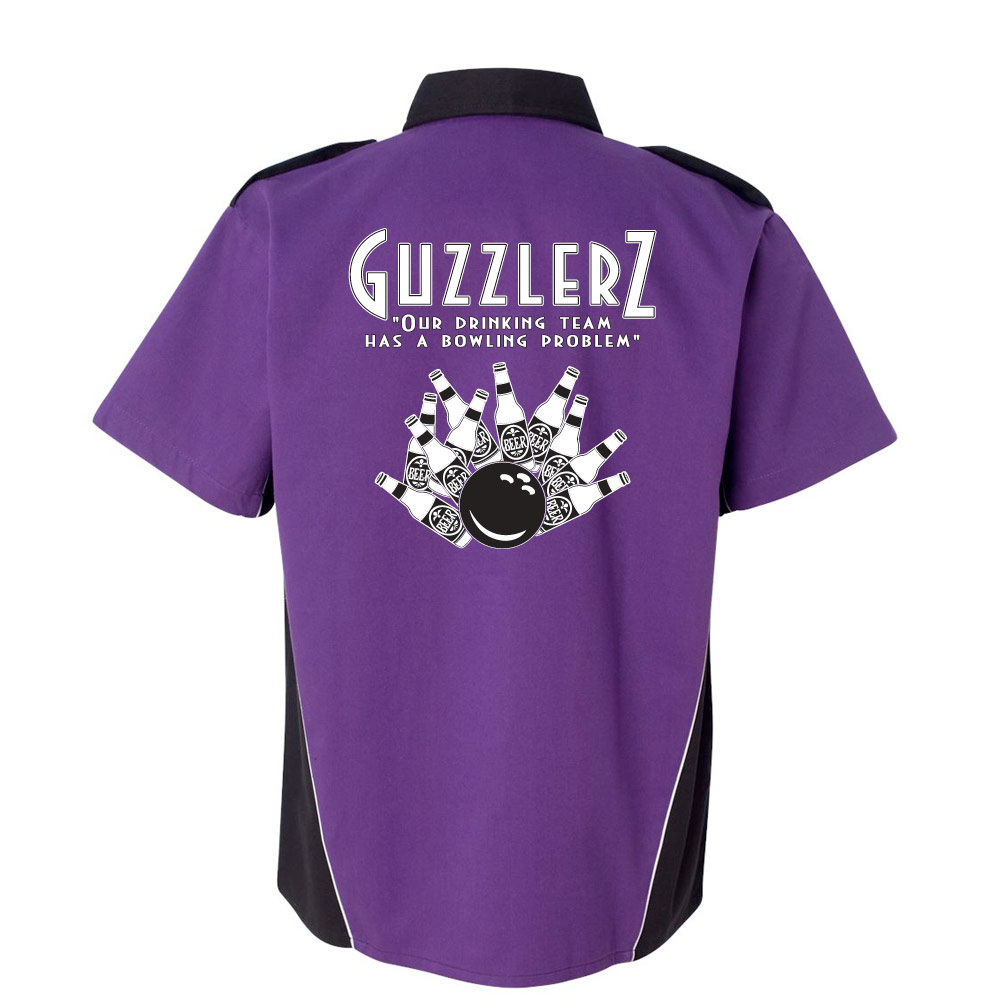 Guzzlers Stock Print on Dillinger Bowling Shirt