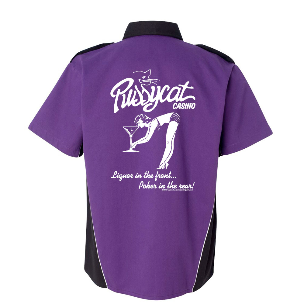 Pussycat Casino Stock Print on Dillinger Bowling Shirt