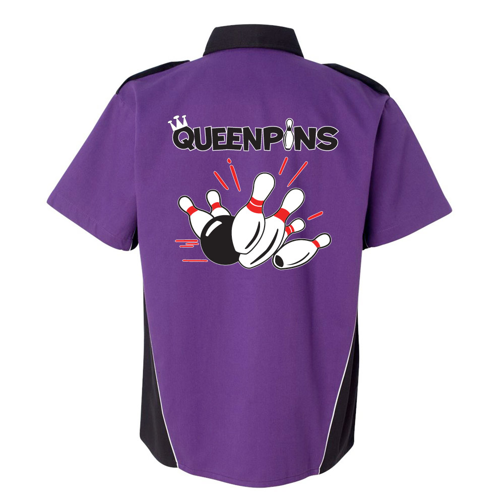 Queenpins Stock Print on Dillinger Bowling Shirt