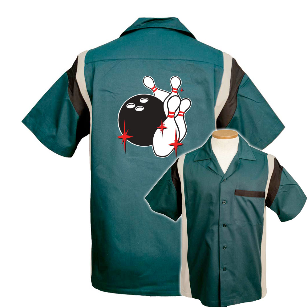 BowlingShirt.com - Pin Splash C Stock Print on Jersey Side Bowling Shirt dba3c7cf119