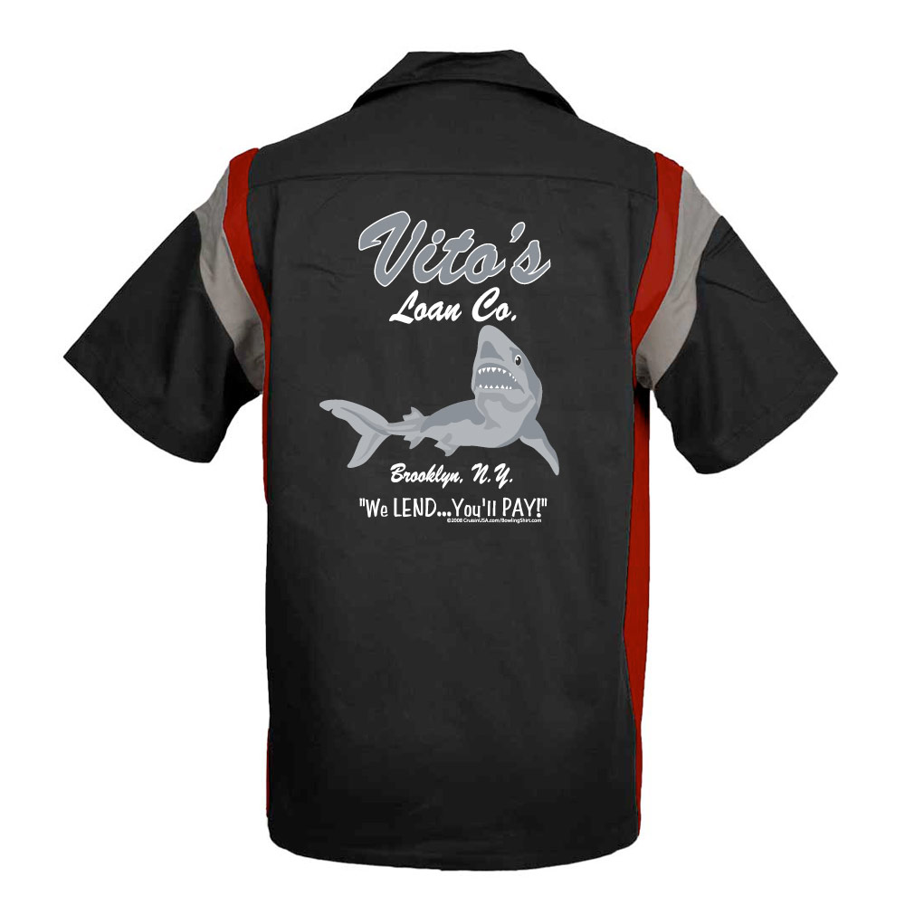 Vito's Loan Company Stock Print on Jersey Side Bowling Shirt