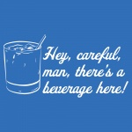 Hey, Careful, Man Graphic Softstyle V-Neck T-Shirt