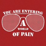 World of Pain Graphic Heavy Cotton T-Shirt