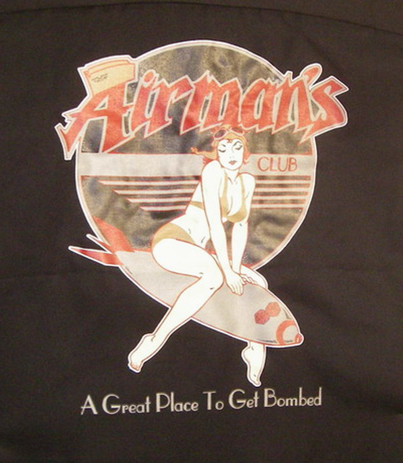 AIRMAN'S CLUB on Red/ Black Hilton Deuce-XXL