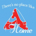 There's No Place Like Home Ladies Graphic Heavy Cotton T-Shirt