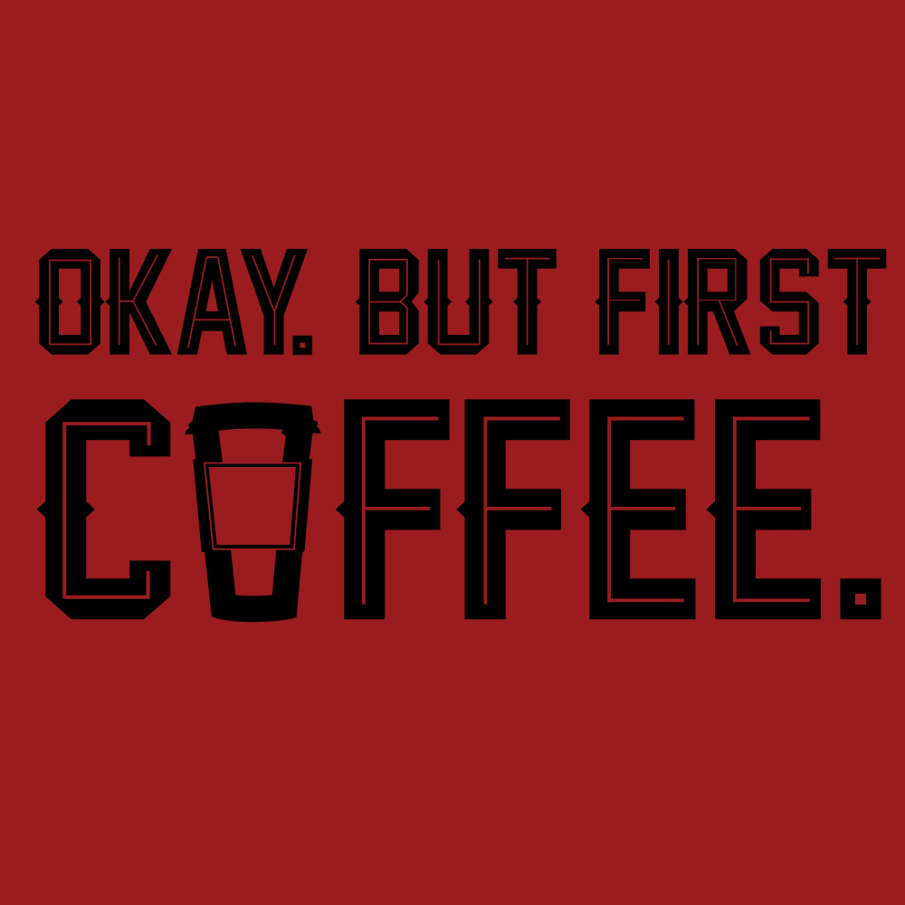 Coffee First Graphic Heavy Cotton T-Shirt