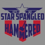 Star Spangled Hammered Graphic Heavy Cotton T-Shirt