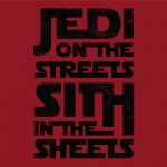 Jedi On The Streets Ladies Graphic Heavy Cotton T-Shirt