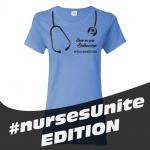 SMYS #Nurses Unite Ladies' Cotton Missy Fit T-Shirt - Carolina Blue