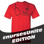 SMYS #Nurses Unite Heavy Cotton T-Shirt - Red