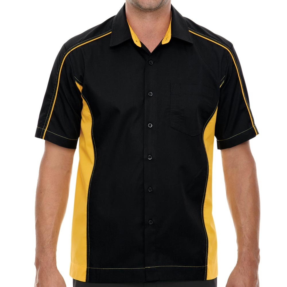 Black & Gold Muckler Bowling Shirt