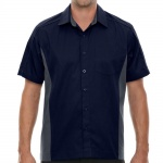 Classic Navy Muckler Bowling Shirt