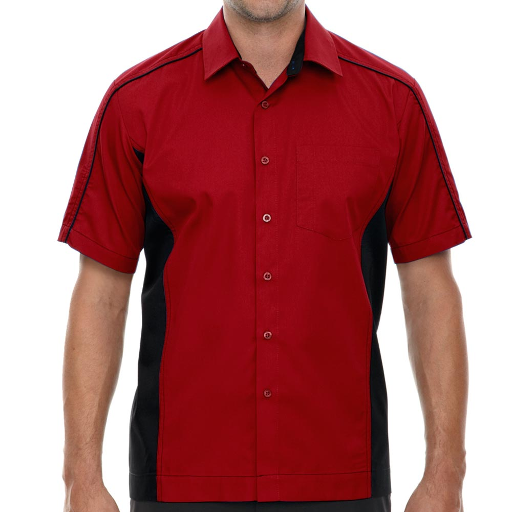 Classic Red Muckler Bowling Shirt