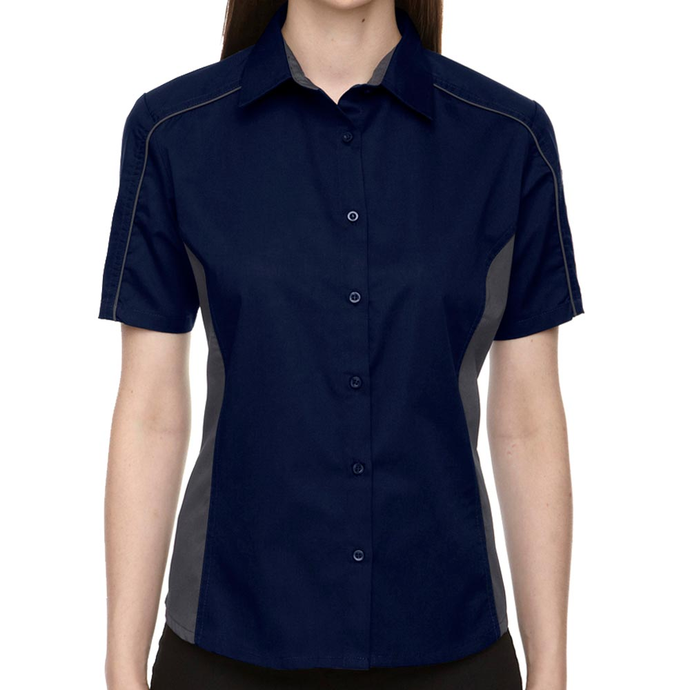 Classic Navy Lady Muckler Bowling Shirt