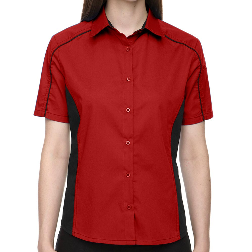1950s Rockabilly & Pin Up Tops, Blouses, Shirts Classic Red Lady Muckler Bowling Shirt $34.95 AT vintagedancer.com