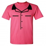 Heliconia Youth Mock Bowling Shirt Graphic Heavy Cotton T-Shirt