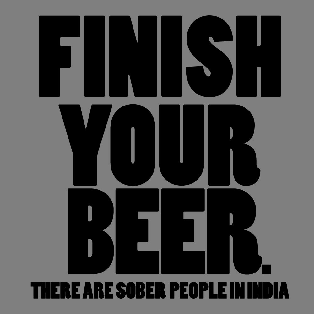 Finish Your Beer Graphic Heavy Cotton T-Shirt