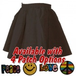 Black Infant Circle Skirt with Patch
