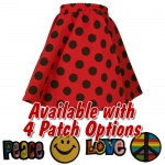 Red Polka Dot Infant Circle Skirt with Patch
