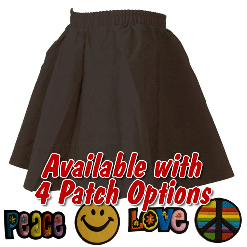 Black Toddler Circle Skirt with Patch