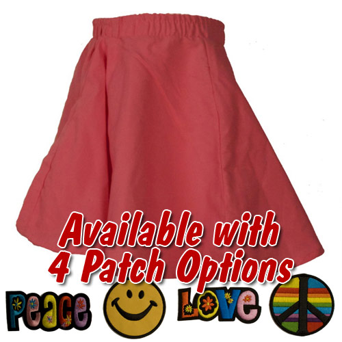 Pink Toddler Circle Skirt with Patch
