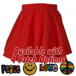 Red Toddler Circle Skirt with Patch
