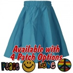 Turquoise Toddler Circle Skirt with Patch