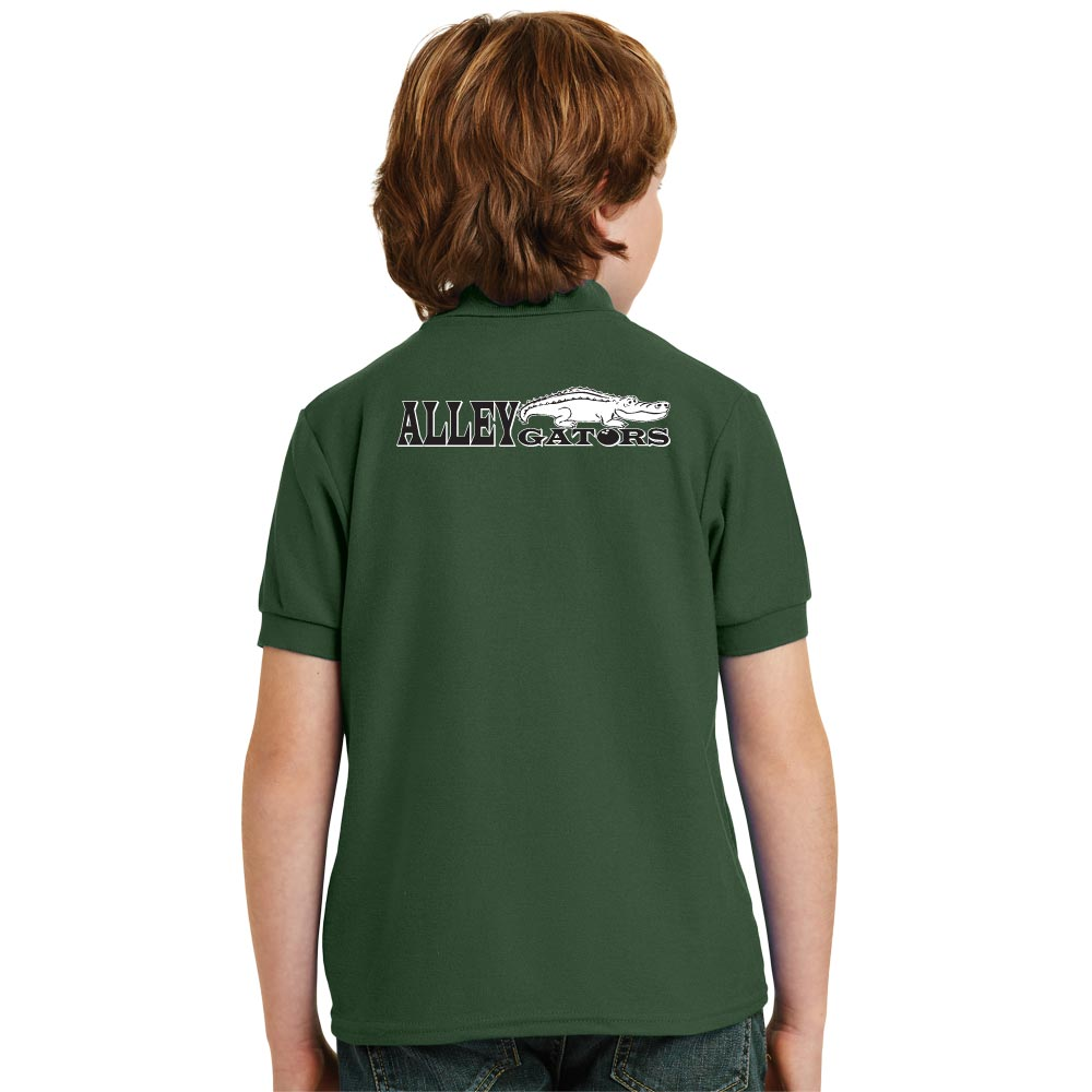 Alley Gators Stock Print on Youth SpotShield Jersey Sport Shirt