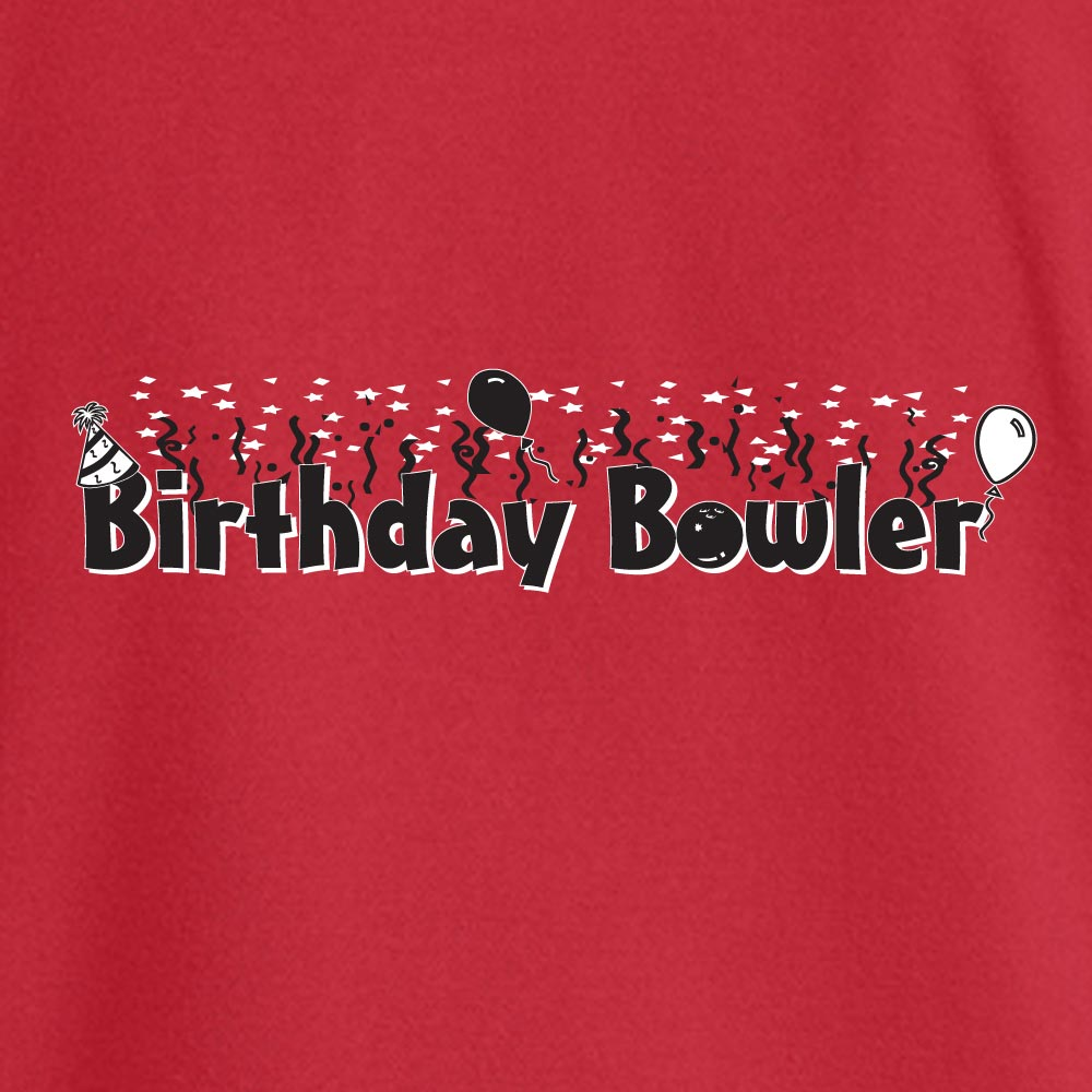 Birthday Bowler Stock Print on Youth SpotShield Jersey Sport Shirt