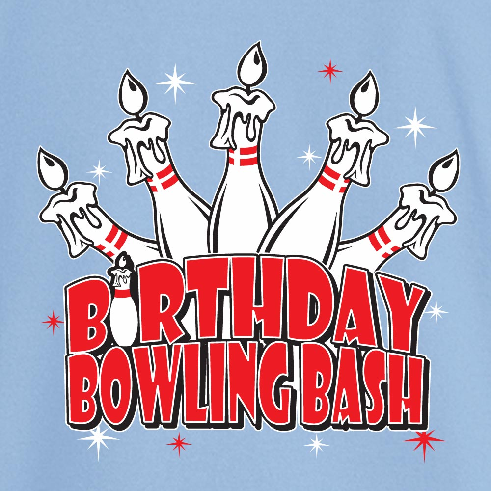 Birthday Bowling Bash Stock Print on Youth SpotShield Jersey Sport Shirt