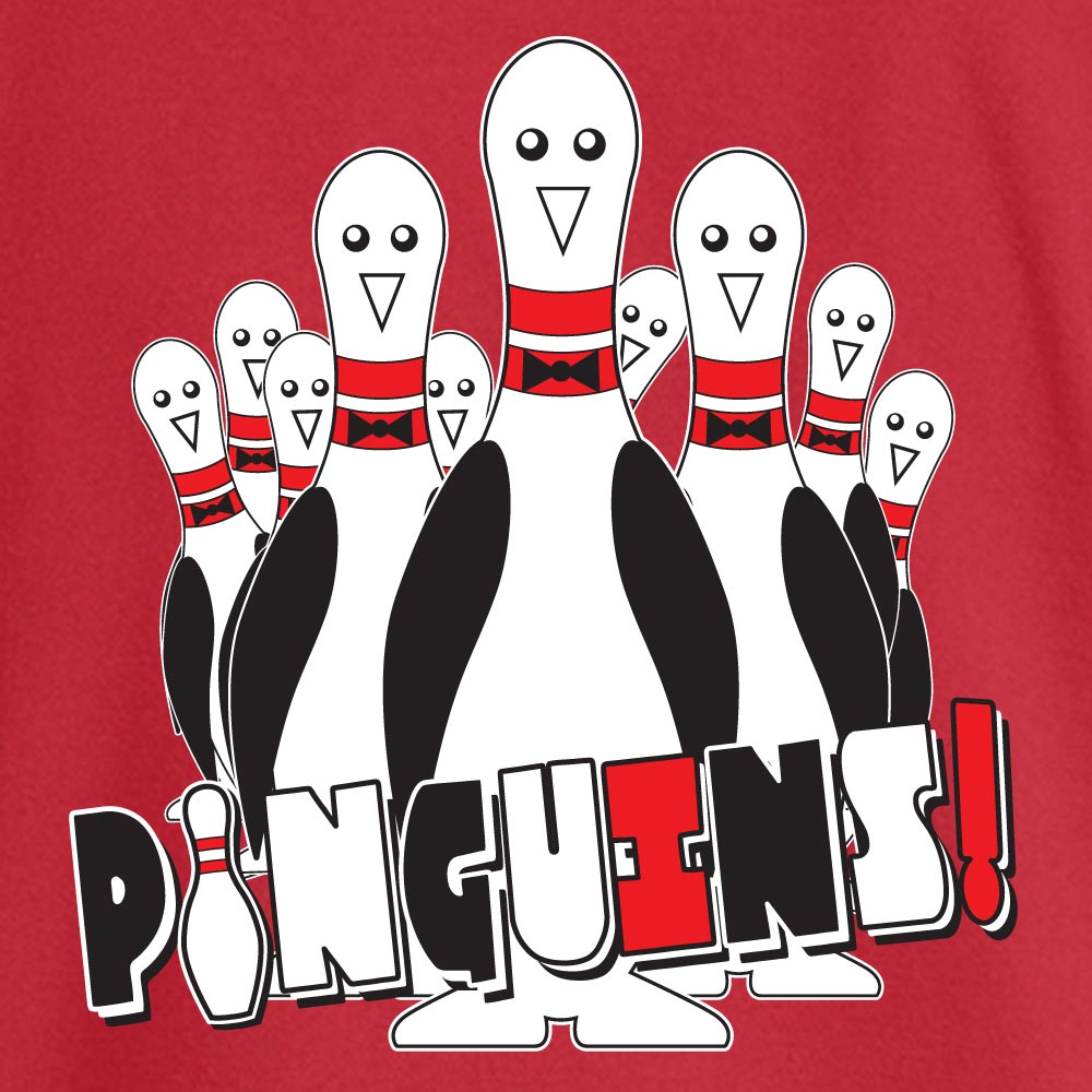 Pinguins Stock Print on Youth SpotShield Jersey Sport Shirt