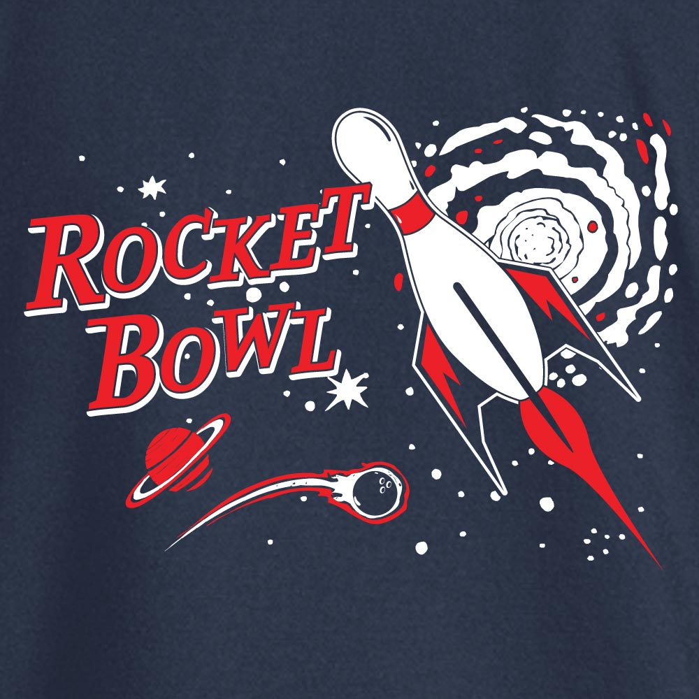 Rocket Bowl Stock Print on Youth SpotShield Jersey Sport Shirt