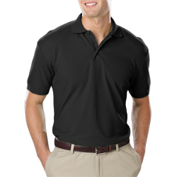 Men's Dry Wick Blue Generation Polo shirt-Solid Black-MD