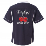 Lucky's Speed Shop Stock Print on Classic Bowler 2.0