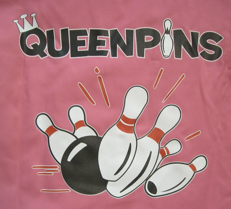 QUEENPINS on back of NEW 100% Polyester PINK Classic-XXL