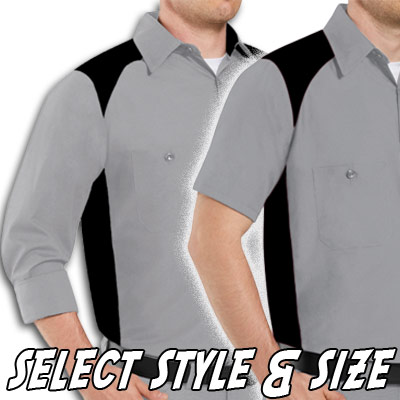 Garren Bowling Shirt Blank Grey/Black