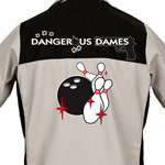 Dangerous Dames Printed on Garren Bowling Shirt