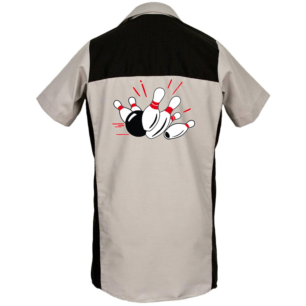Pin Splash A Printed on Garren Bowling Shirt
