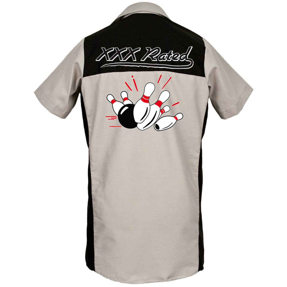 XXX Rated Printed on Garren Bowling Shirt