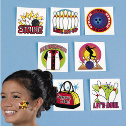 Bowling Tattoos Set of 7