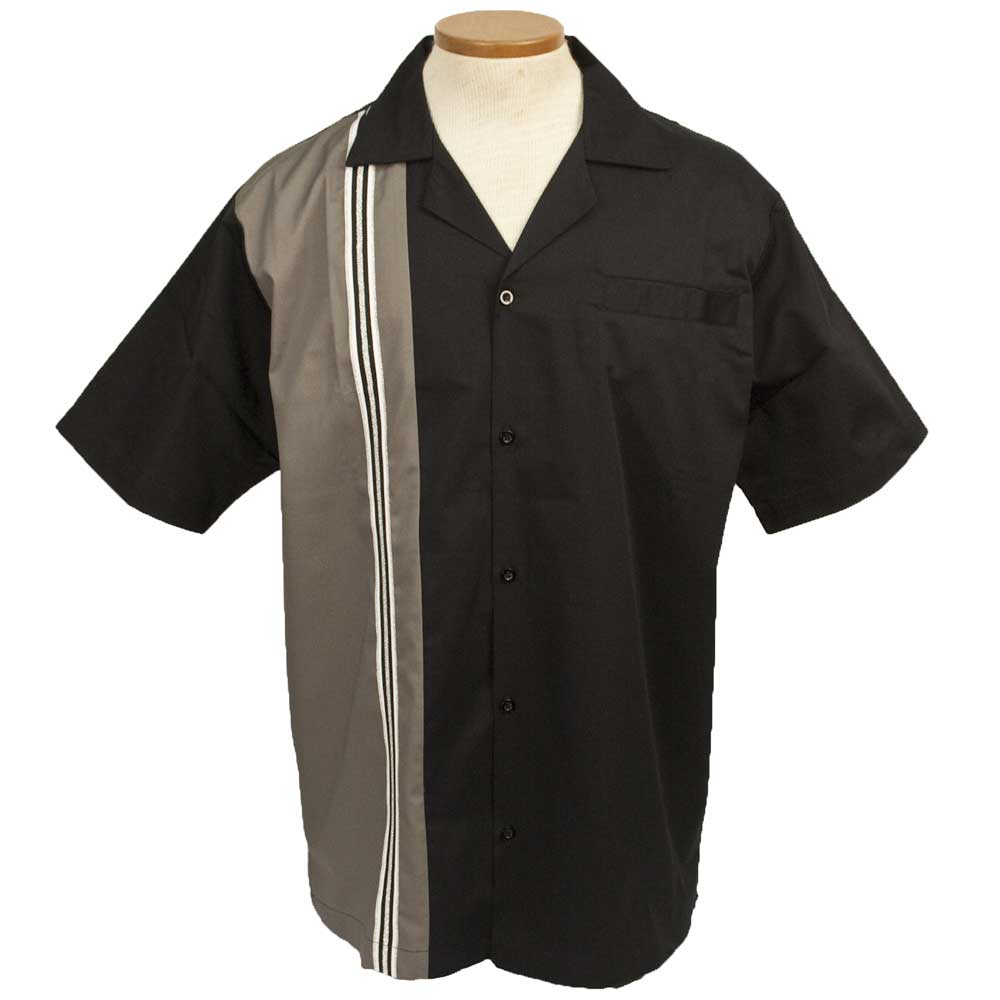 The Dude Bowling Shirt - Grey & Black