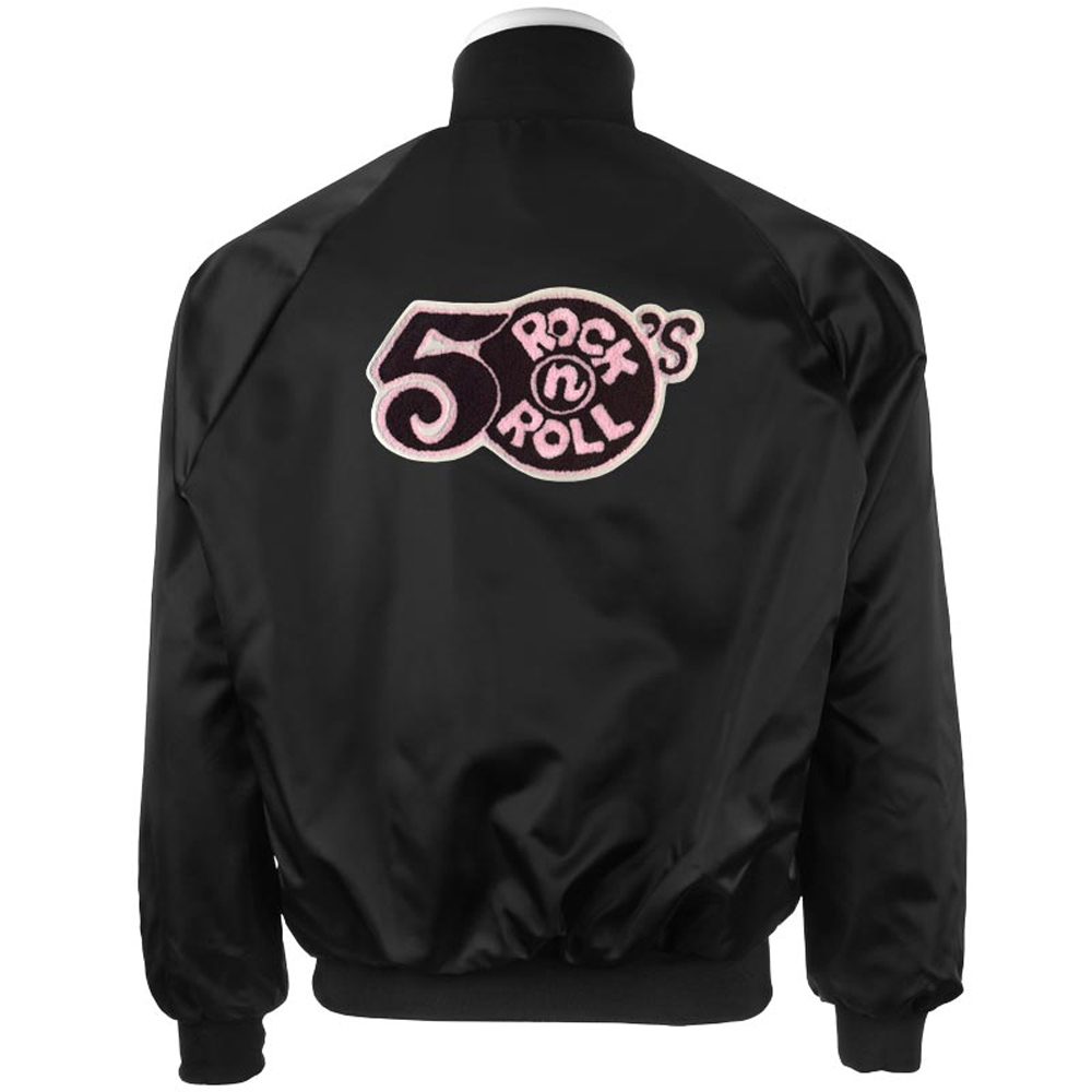 1950's Rock N' Roll Design: Black Satin Jacket