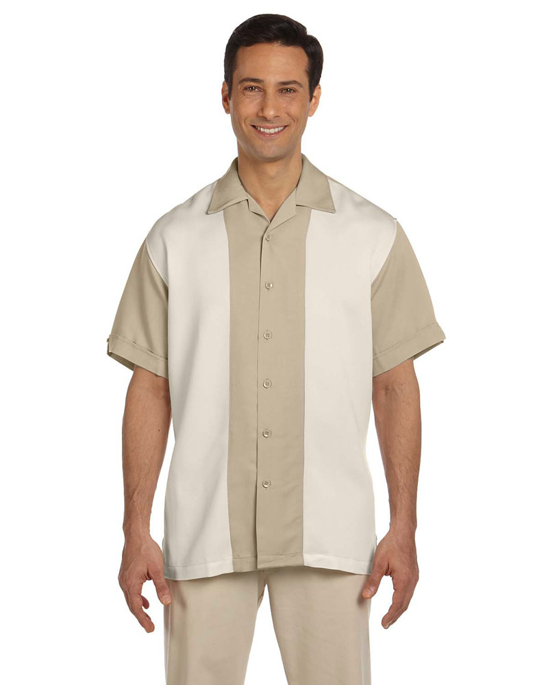 The Breeze Bowling Shirt -  Sand & Cr鑪e M575