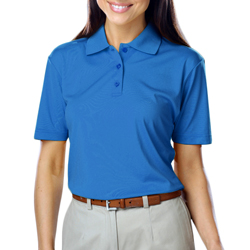 Ladies Blue Generation Moisture Wicking Polo- Turquoise-Lg