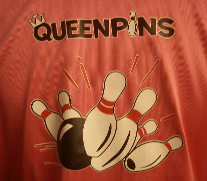 QUEENPINS on Pink Classic Bowler-Youth LG