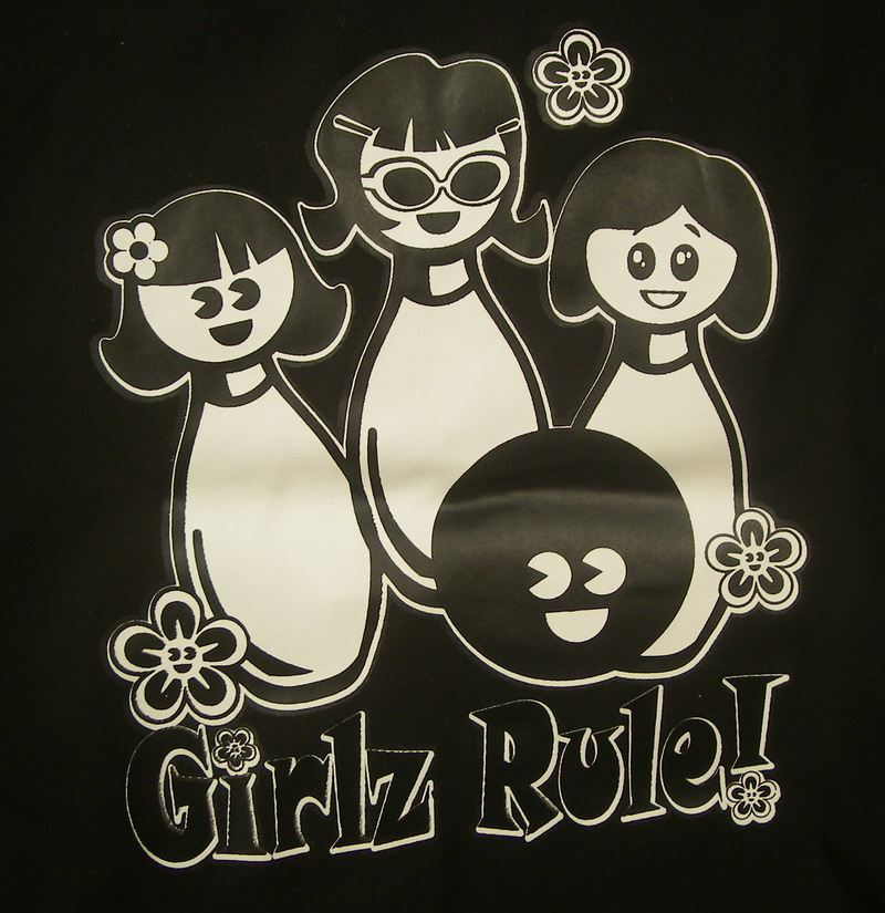 GIRLZ RULE on BLACK/WHITE CLASSIC-YOUTH XS
