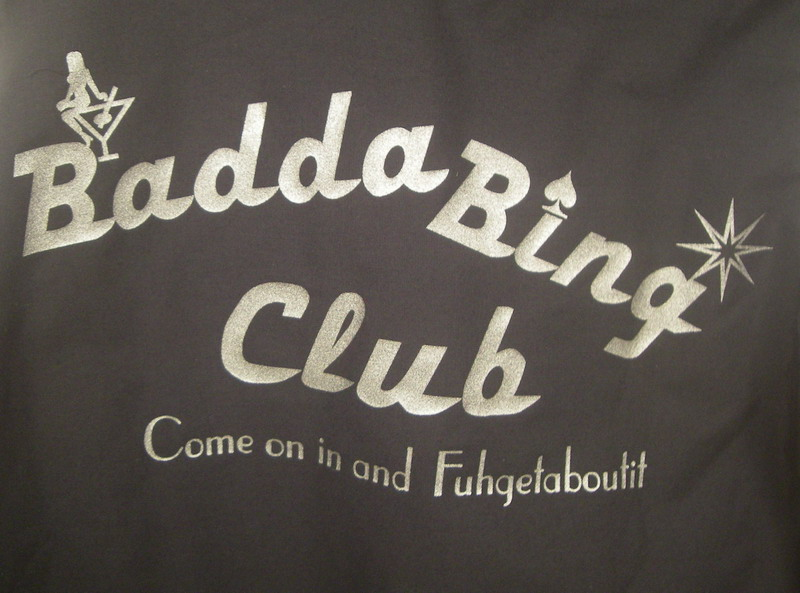 BADDA BING CLUB on White/Black Retrobowler-Youth SM