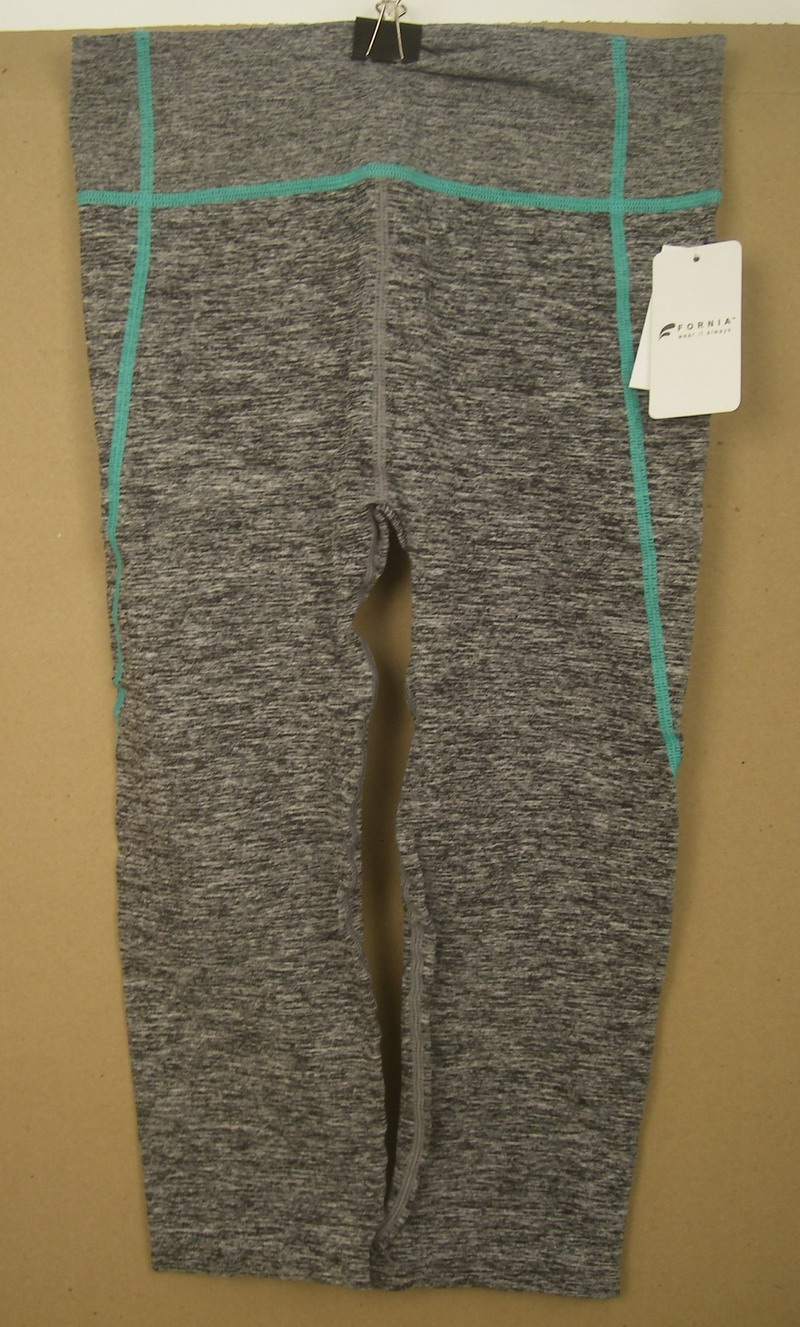 FORNIA LADIES SEAFOAM/GREY YOGA PANTS-SM/MED