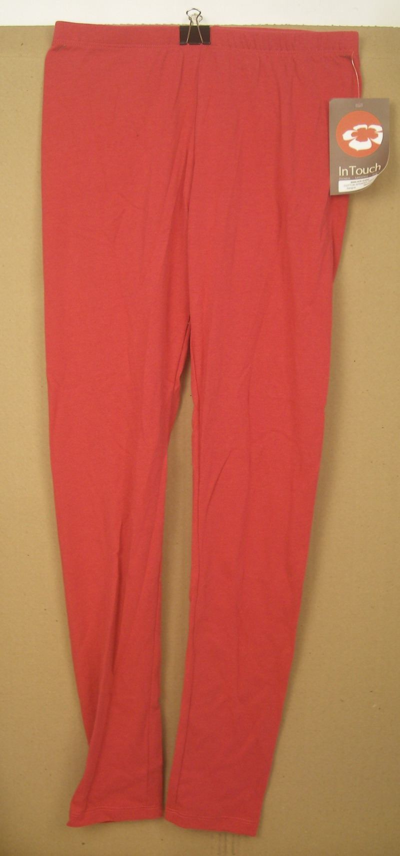 IN TOUCH LADIES COTTON SPANDEX LEGGINGS in SANGRIA-MED